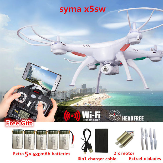 RC Drone Syma X5SW FPV RC Quadcopter Drone with Camera 2.4G 6-Axis