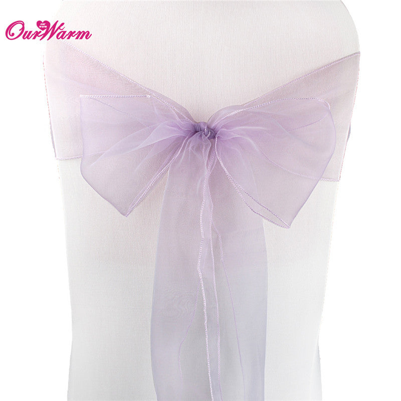 Cheap Organza Chair Sashes Bow Cover Wedding Chair Sashes New Year