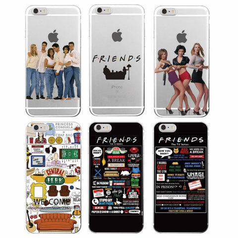 Friends TV Show Funny Central Perk Park Soft Phone Case Cover Coque Fundas For iPhone 7Plus 7 6 6S 6Plus 8 8plus X Samsung