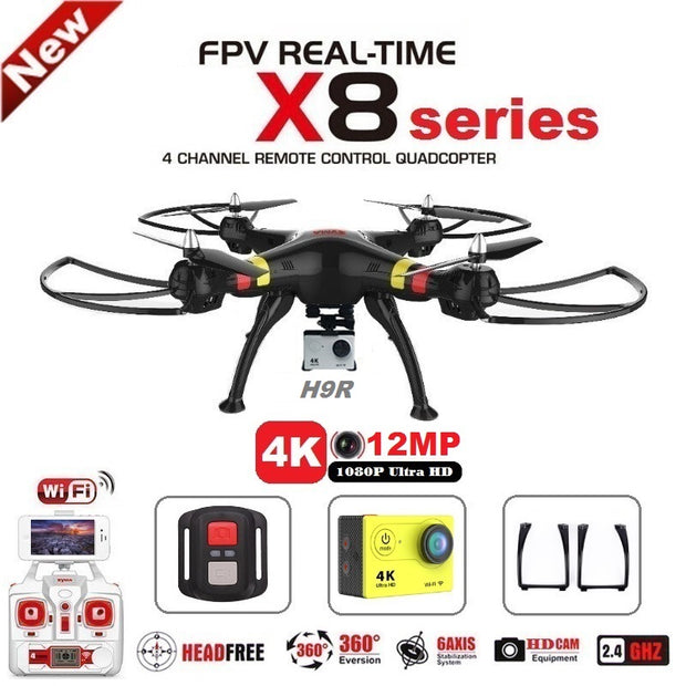 SYMA X8C X8G X8W X8HG X8 FPV RC Drone With H9R 4K Camera 1080p Ultra