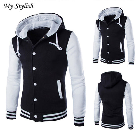 Fashion Men Coat Jacket Outwear Sweater Winter Slim Hoodie Warm Hooded Sweatshirt Stylish Nov 29
