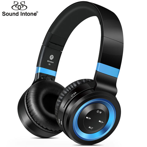 Sound Intone P6 Wireless  Headsets Bluetooth  4.0 Headphones with Microphone Support  TF Card FM Radio for MP3 Cellphones Laptop