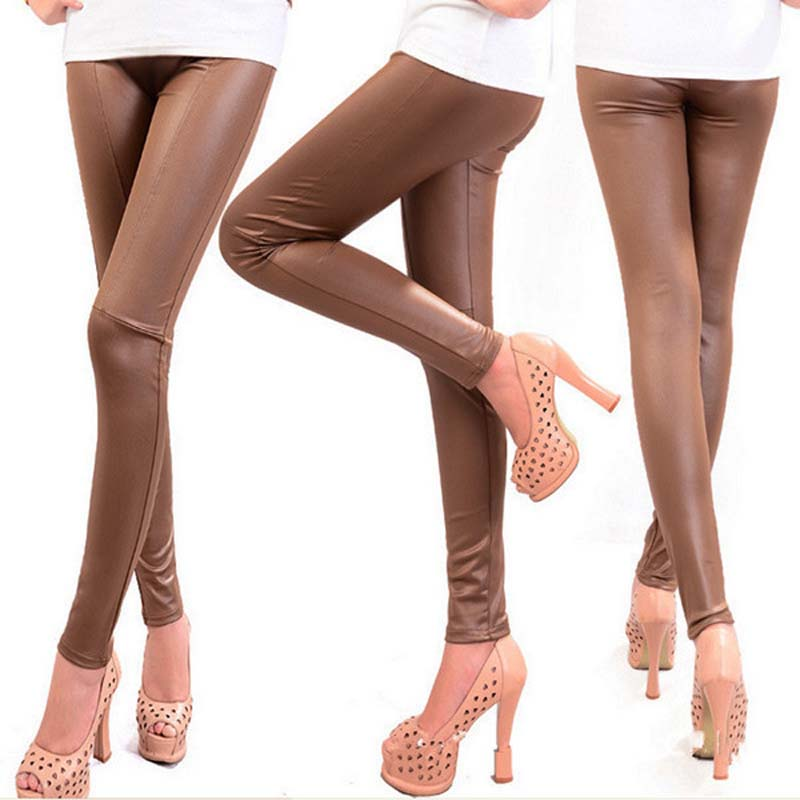 Autumn Winter Faux Leather Leggings For Women Lady leggins Pants New