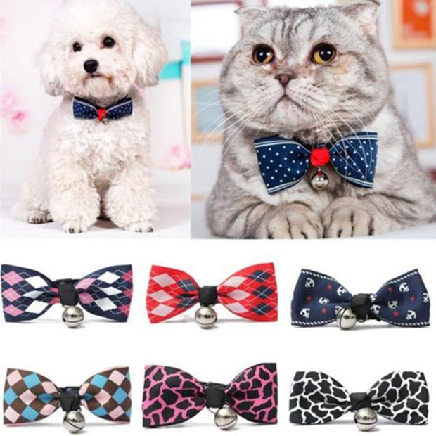 Hot Sales Multi Colors Lovely Bow Cats Dog Tie Dogs Bowtie Collar