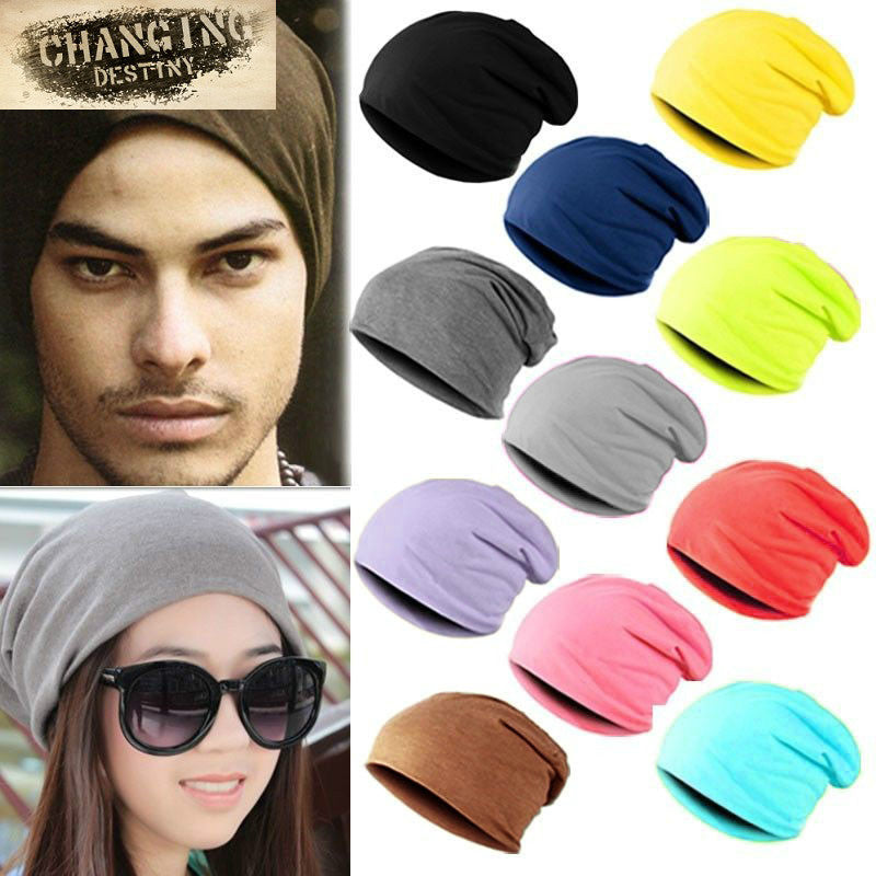 Spring Fashion Men Knitted Winter Cap Casual Beanies Men Women Solid
