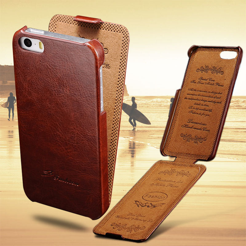 5S Flip Case For iPhone 5S 5 SE PU Leather TOMKAS Brand Luxury Phone