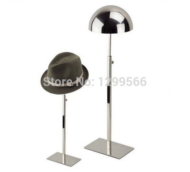 Best selling rose gold Stainless Steel Hat display rack cap showing