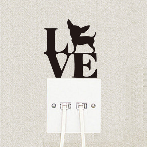 Black Creative Funny LOVE Dogs Switch Stickers Vinyl Decoration Wall Decal A3091