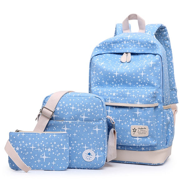 2017 Fashion Star Women Canvas Backpack Schoolbags School For Girl