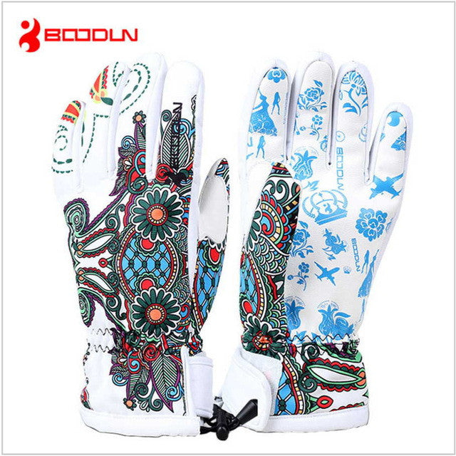 Boodun Professional Warm ski gloves Waterproof snowboard glove