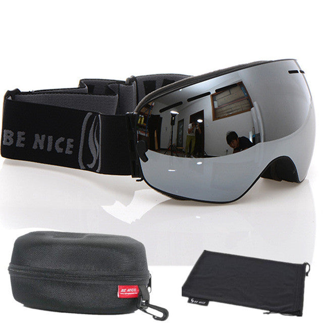 Benice brand snowboard goggles double anti-fog UV400 big motocross
