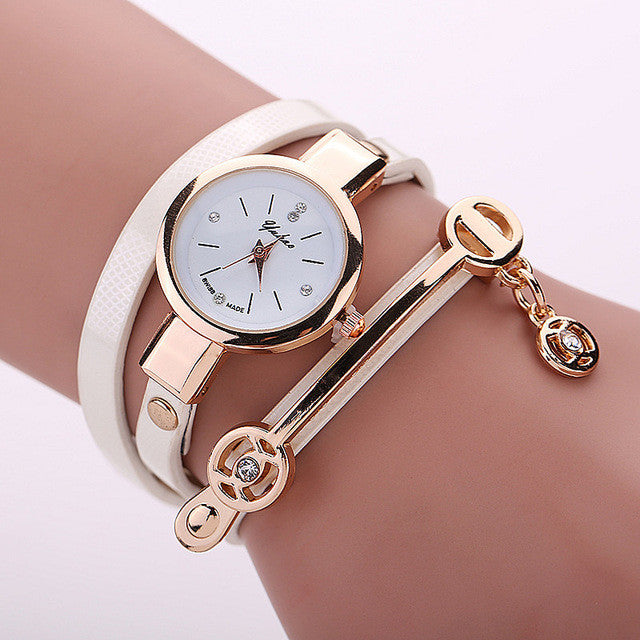 MINHIN Creative Braided Rope Bracelet Watches For Women PU Leather