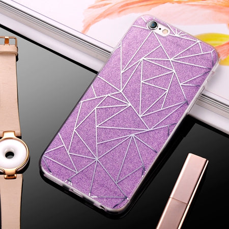 2017 Luxury Case For iPhone 6 Bling Glitter Sandstone Silicone Soft