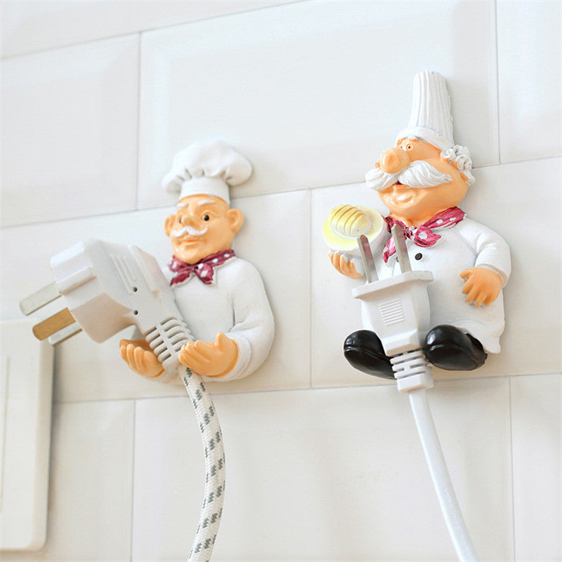 Cook Strong Self-Adhesive Wall Storage Hook Hanger Cartoon Kitchen