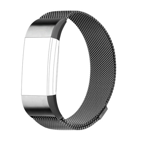 Ktab Fitbit Charge2 Bands Replacement MilaneseLoopStainless SteelMetalBracelet Strap with UniqueMagnetLock for Fitbit Charge 2