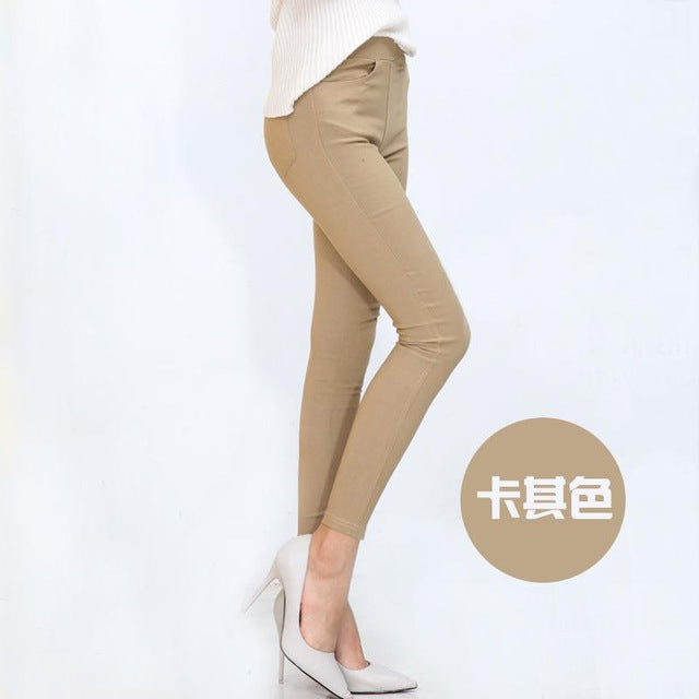Aselnn 2017 Spring New Fashion Women Pencil Pants Casual Elastic Waist