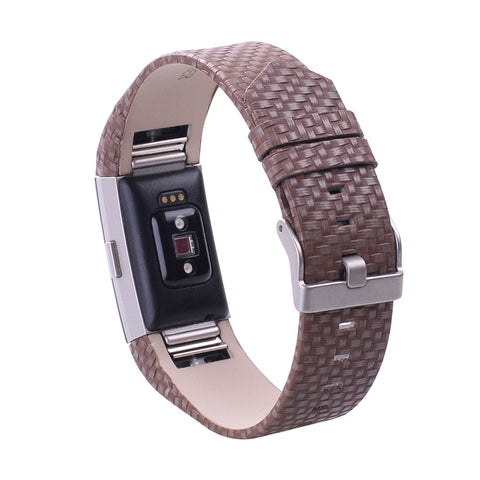 Luxury Genuine Leather Replacement Watch Band Fashion Bracelet Adjustable Accessory Wrist Strap Bracelet For Fitbit Charge 2