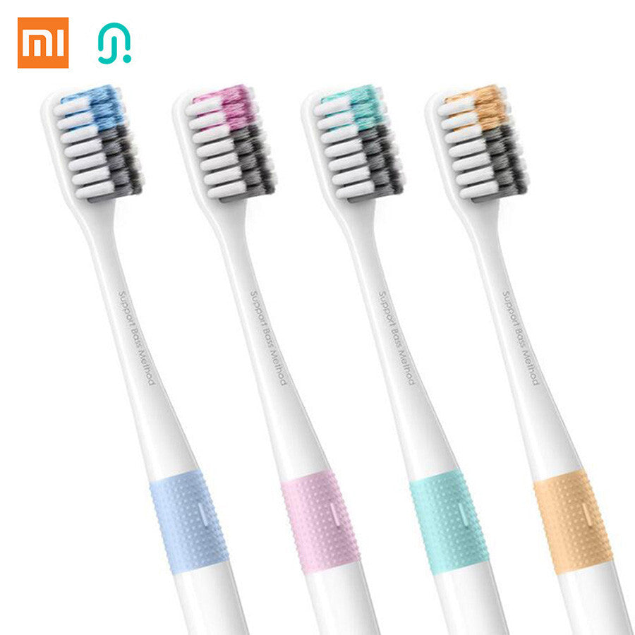 4pcs/ lot Xiaomi New Brand Doctor B Bass Method Tooth brush 4 Colors 4