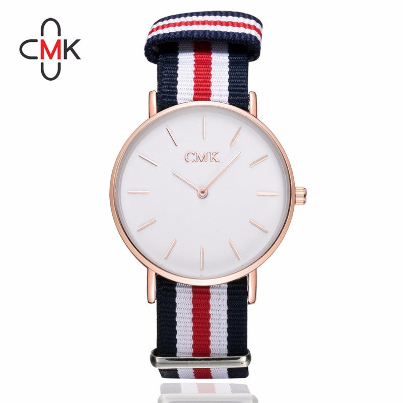 2017 Luxury Brand Clock women watches Draw strap Sports Quartz Watch