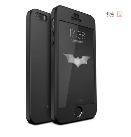 100% ORIGINAL GU JIANG brand luxury full protection hard plastic case for iphone SE for iphone 5s with tempered glass protector