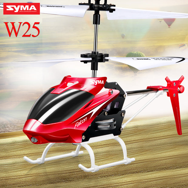 Original Syma W25 RC Helicopter Drone 2 Channel Indoor Remote
