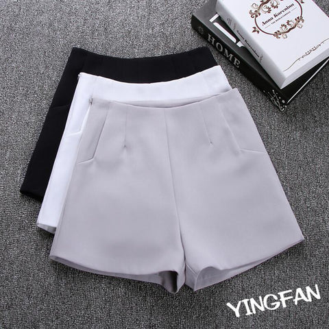 2017 New Summer hot Fashion New Women Shorts Skirts High Waist Casual Suit Shorts Black White Women Short Pants Ladies Shorts
