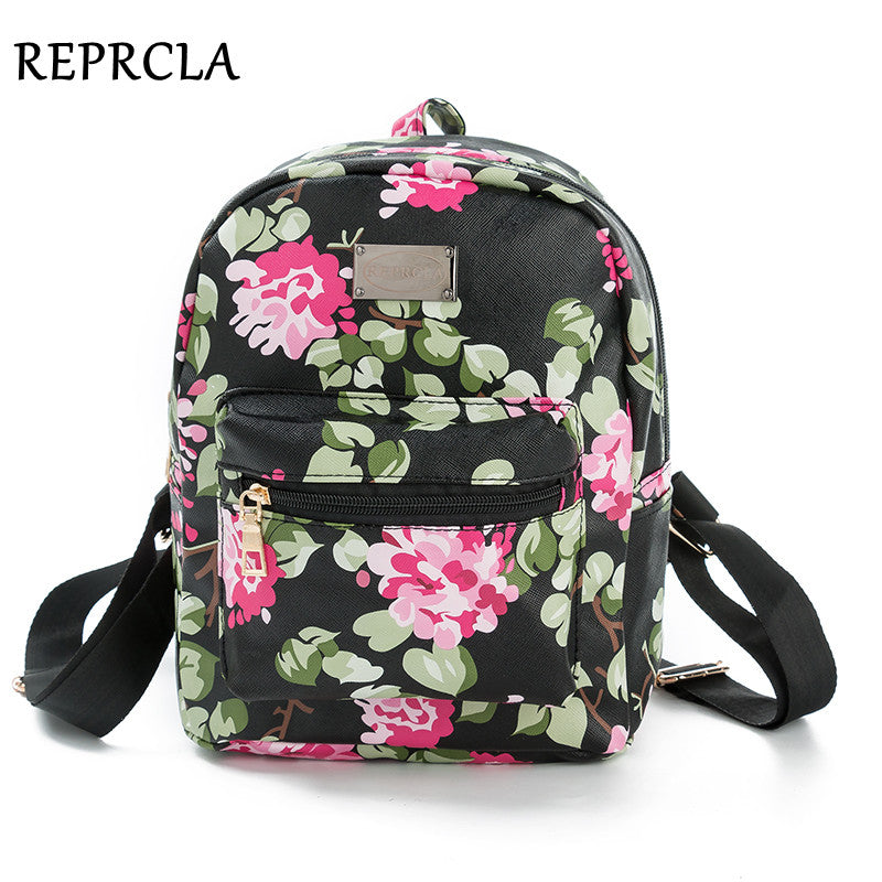 2017 New Printing Backpack School Bags For Teenagers PU Leather