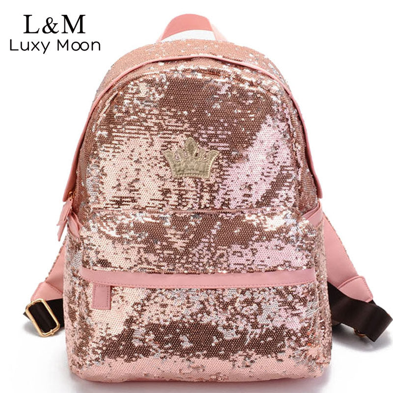 2017 Glitter Backpack Women Sequin Backpacks For Teenage Girls