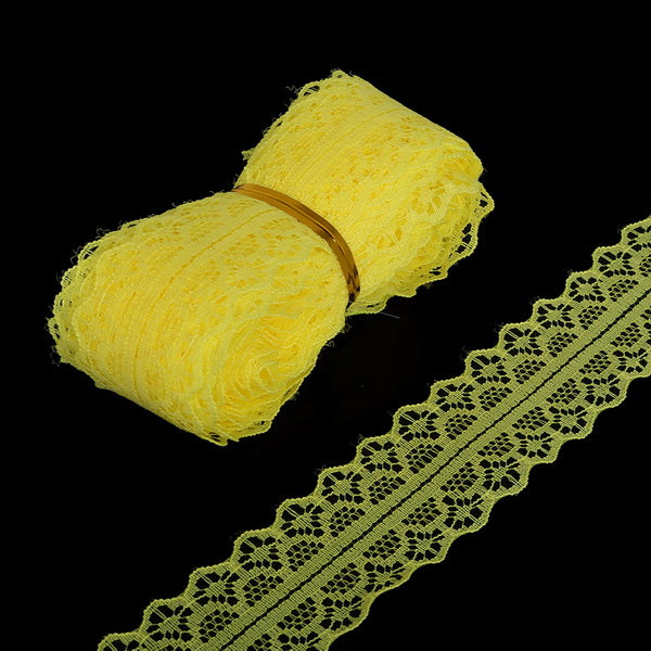 5yards 28MM Width White Lace Ribbon DIY Decorative Lace Trim Fabric