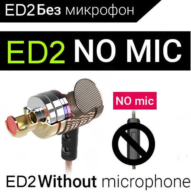 Brand Earphone KZ ED Universal Headphone Hot Sale HiFi Headset Bass