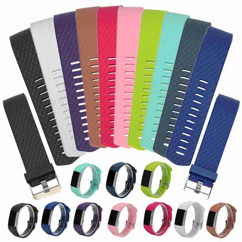 9 Colors NEW Diamond Silicone Watch Band For Fitbit Charge 2 Band