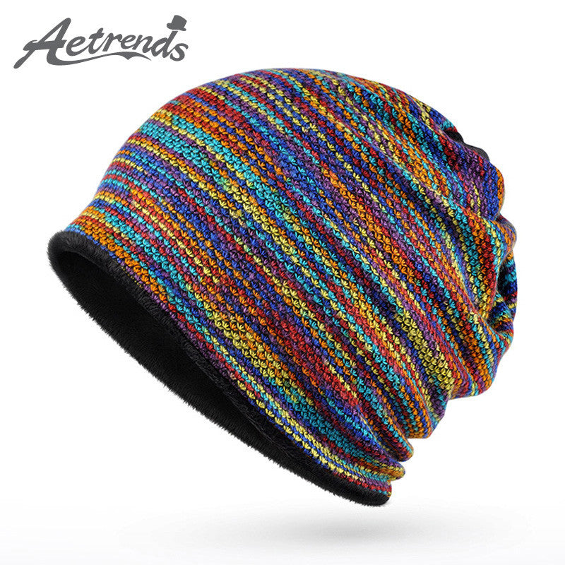 [AETRENDS] 2017 Winter Beanies Collar Scarf Women or Men's Hip Hop