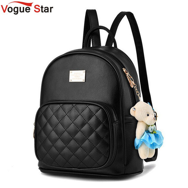 Vogue Star 2017 Fashion Women Backpack For Girls Backpacks Black