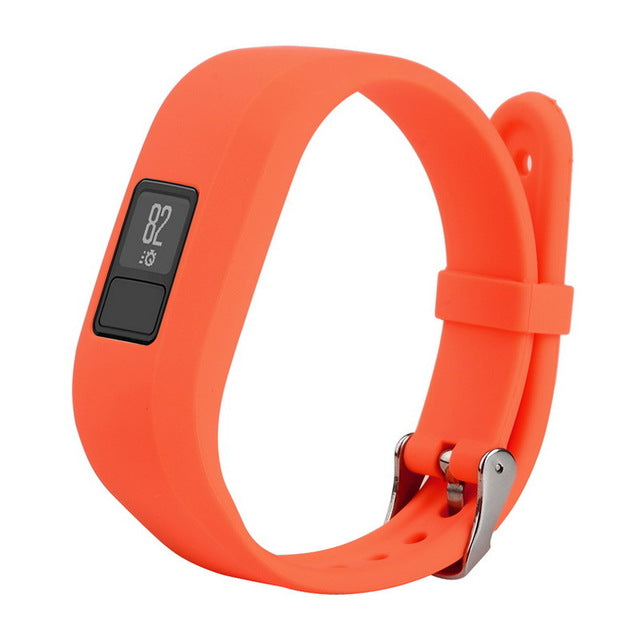 1PC Silicone Fashion Design Replacement Wrist Band With Metal Buckle