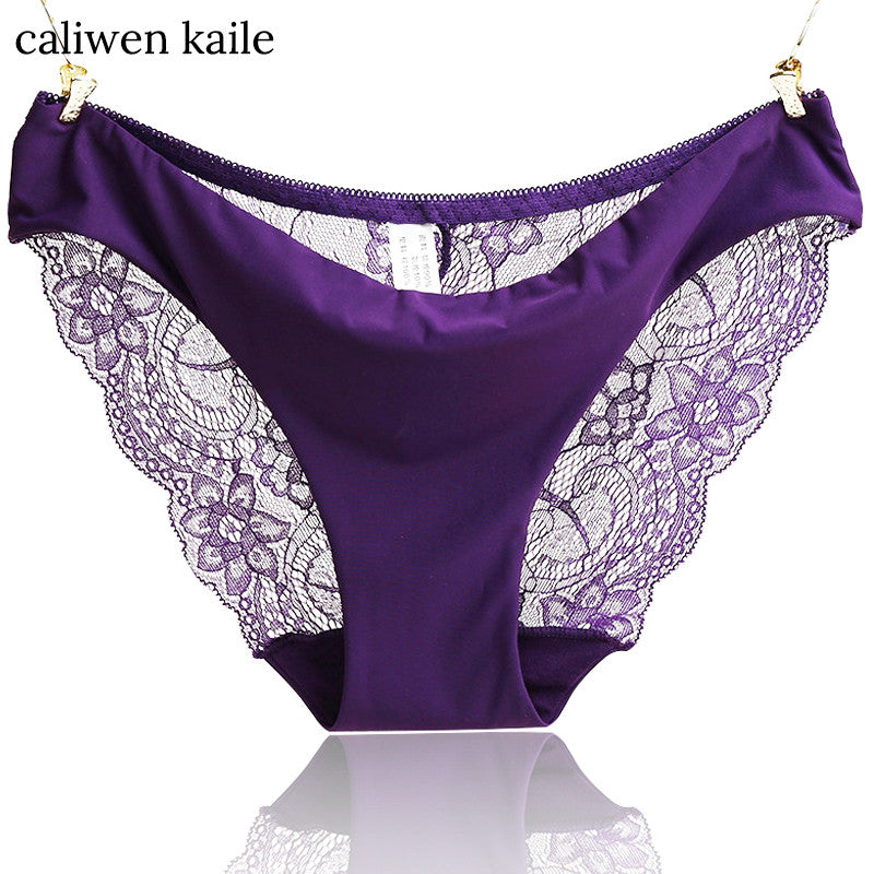 S- XXL 2017 New Women's Sexy Lace Panties Seamless Cotton Breathable