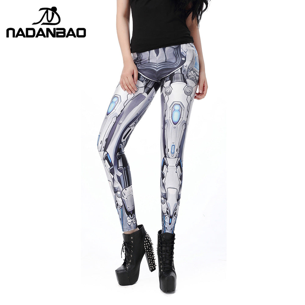NADANBAO MECHA CosPlay Women Leggings ROBOT Comic Cartoon Printed