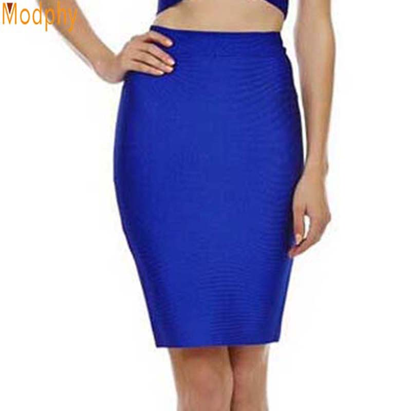 2017 Good Elastic Women Celebrity Bandage Skirts Sexy Slim Solid Color