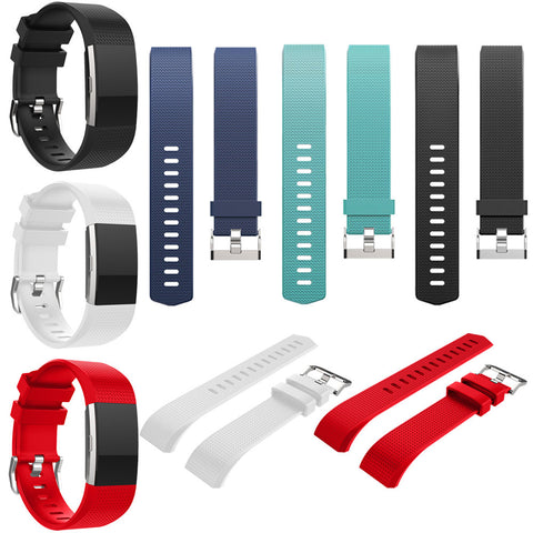 Silicone Replacement Watch Band Adjustable Watch Strap Reloj Banda Relogio Banda Orologio Banda Uhr Band for Fitbit Charge 2