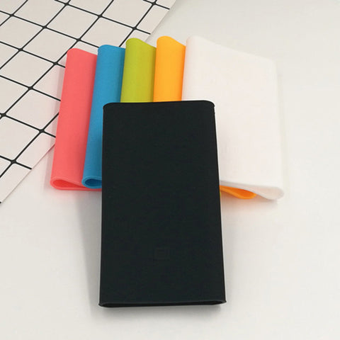 Hot Sale Silicone Case Cover for Xiaomi Power Bank 2 10000mAh Fit for Mi 2nd Generation Powerbank Covers Rubber Case