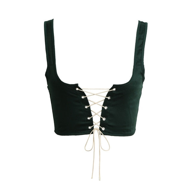 Women Lace Up Waistband Corset Belt Tank Shoulder Tie Up Eyelet Front Back Zipper High Waist Belt XL Plus Size Crop Top Female