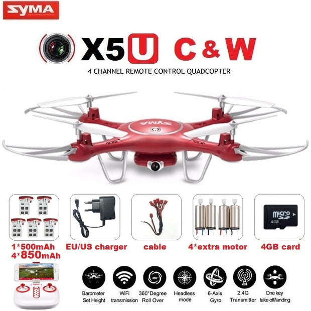 SYMA X5UW & X5UC FPV RC Drone With 720P WiFi 2MP HD Camera 2.4G 4CH