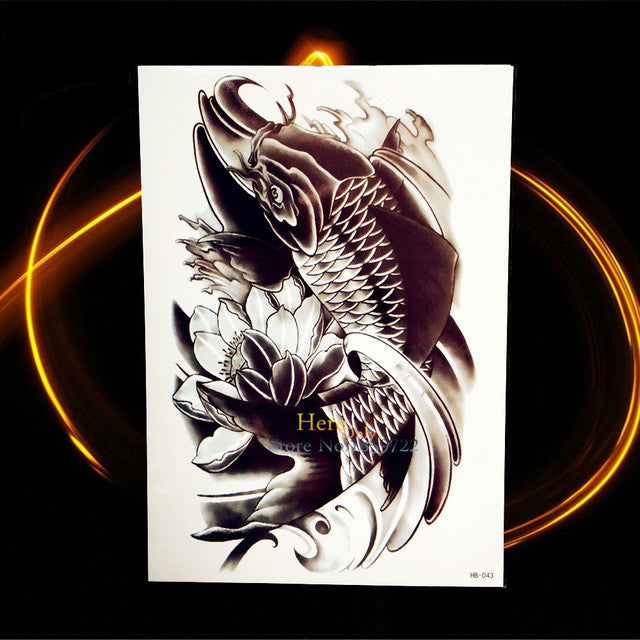 Large Size Men Body Art Arm Tattoo Fox Sexy Women HEnna Tattoo
