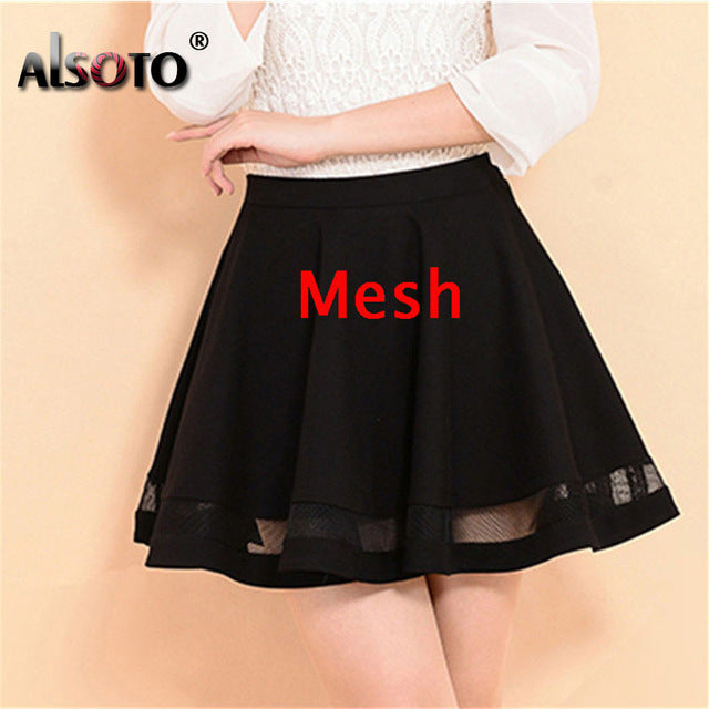 ALSOTO Summer Women Skirt Sexy Saia Short Skater Skirts for Ladies