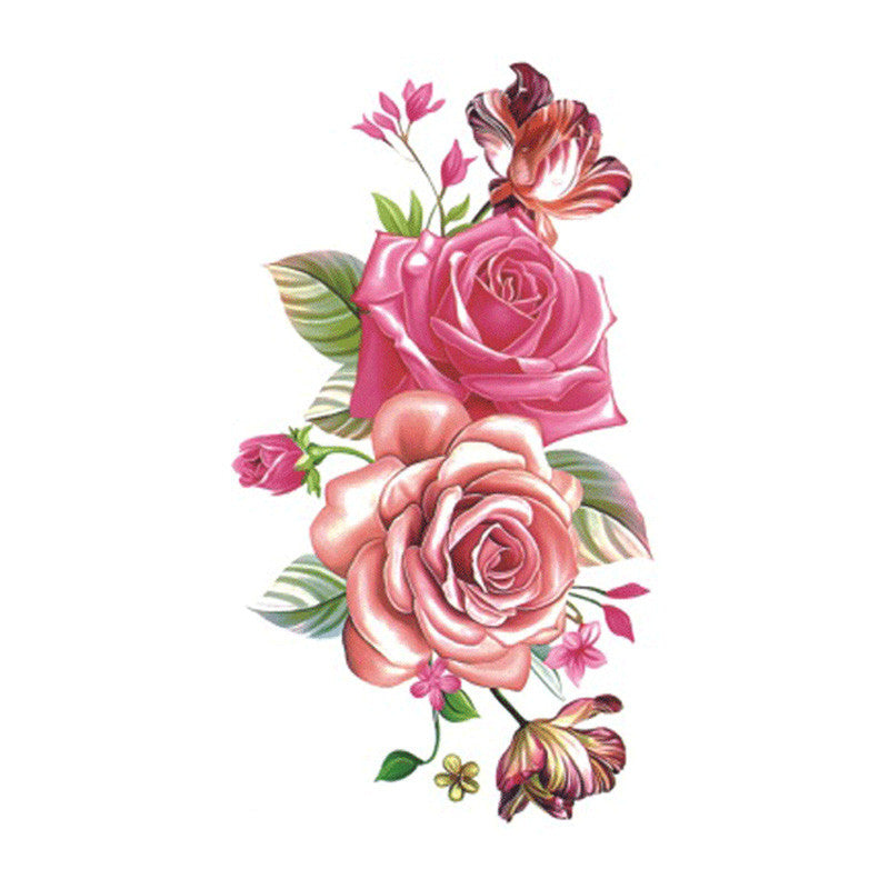 Wyuen Flower Rose Waterproof Temporary Tattoo Sticker for Adults