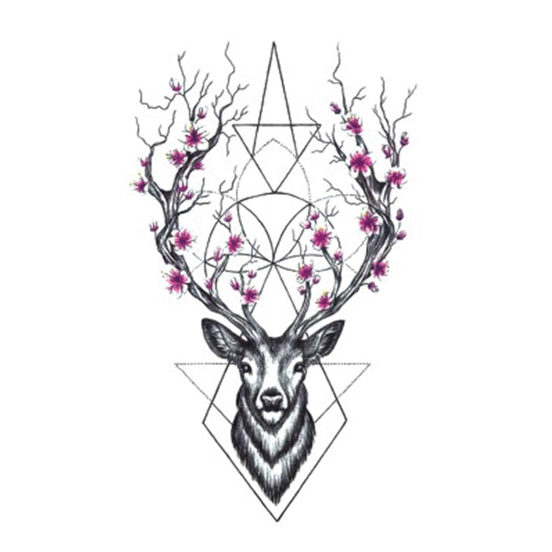 Wyuen Hot Designs Deer Temporary Tattoo For Adult Man Woman Waterproof