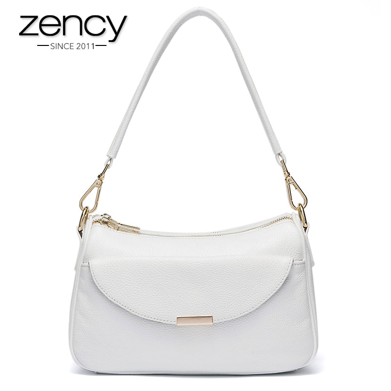 2017 Zency Famous Brand Genuine Leather Luxury Women Handbag Fashion