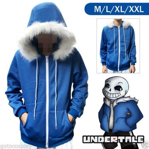 undertale sans blue coat cosplay jacket costume Unisex hoodie sweatshirts man zipper hoodies top sweatshirt winter coat