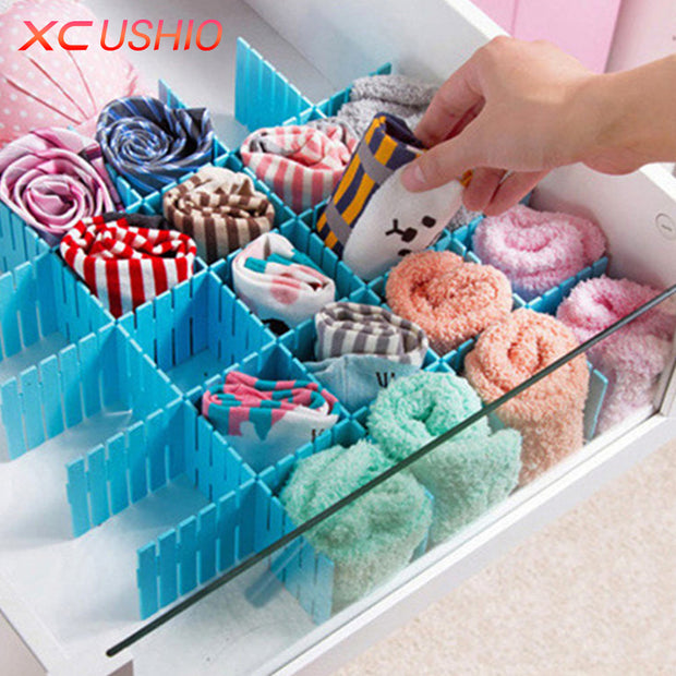 4pcs/lot Creative DIY Drawer Divider Household Storage Organizer