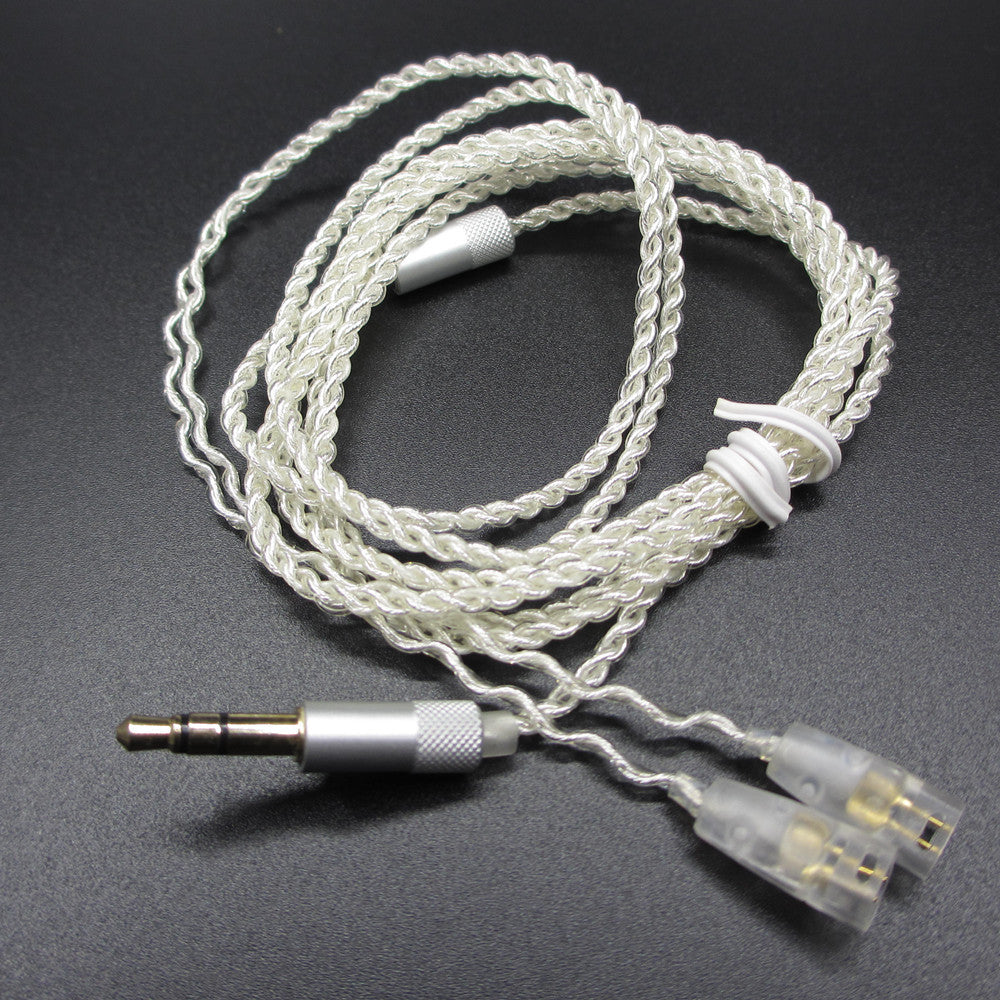 New 1.25M 16 Shares 5N Silver Plated Earphone Cables Headphones Wire