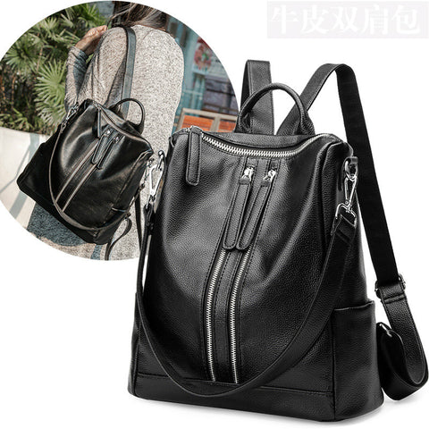 100% Genuine leather Women Backpacks  leather Backpacks student bags For Teenagers Girls Female Travel Back Pack